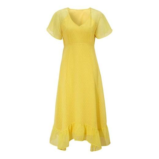Sukienka Cellbes na bal z krótkim rękawem Odzież Damska DK żółty VYIT