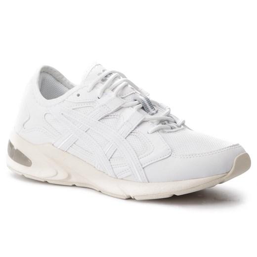 Asics buty sportowe damskie tiger białe z tworzywa sztucznego bez wzorów płaskie sznurowane klasyczne