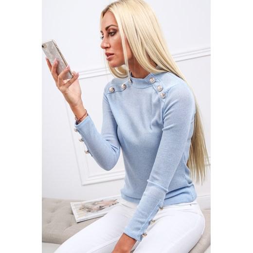Bluzka damska Fasardi z długim rękawem tkaninowa w Domodi