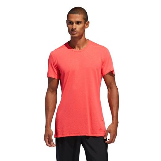 Koszulka sportowa Adidas czerwona bez wzorów