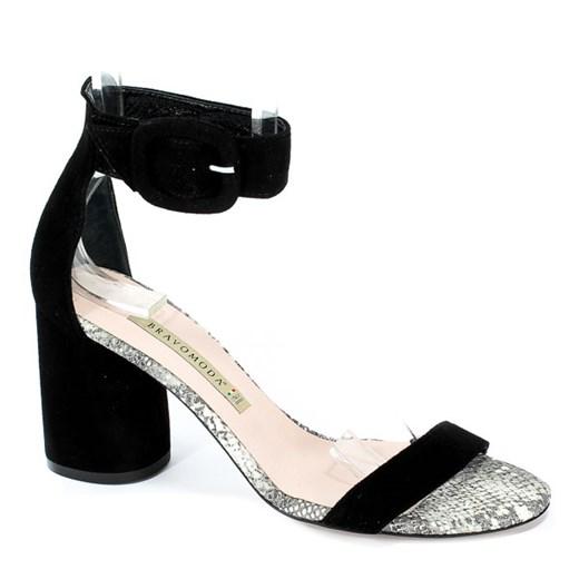 Sandały Bravo Moda 1698 Czarny Zamsz okazyjna cena EuroButy