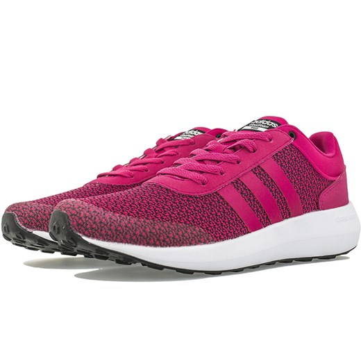 Adidas buty sportowe damskie płaskie różowe eleganckie sznurowane