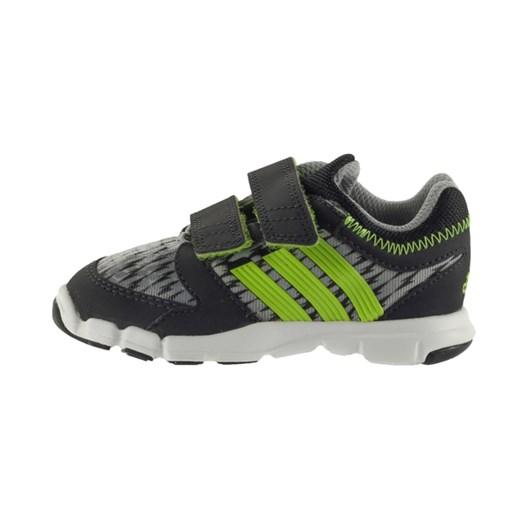 Buty sportowe damskie Adidas do biegania na rzepy bez wzorów płaskie