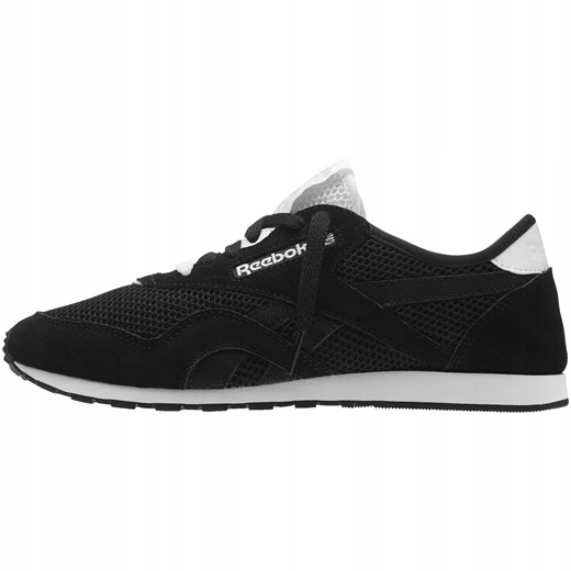 Buty sportowe damskie czarne Reebok sznurowane www