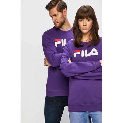 Fioletowa bluza sportowa Fila z napisem w Domodi