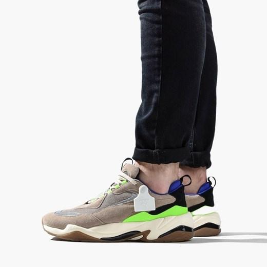 Puma buty sportowe męskie sznurowane brązowe młodzieżowe w
