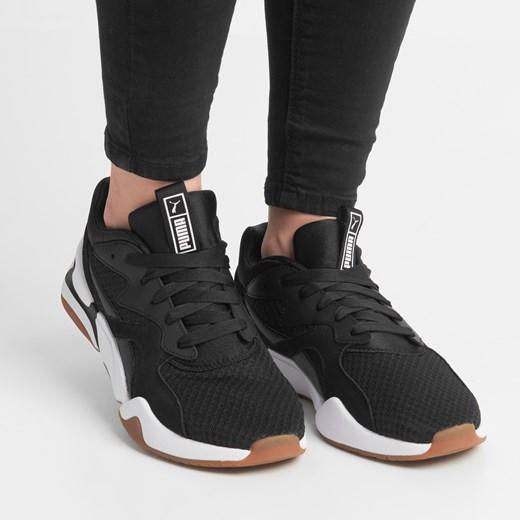 Buty sportowe damskie Puma sneakersy w stylu młodzieżowym skórzane gładkie wiązane