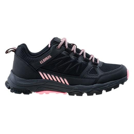 Buty sportowe damskie Elbrus na wiosnę bez wzorów z gumy płaskie sznurowane