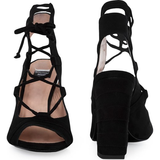 Boutique Moschino sandały damskie na wysokim obcasie