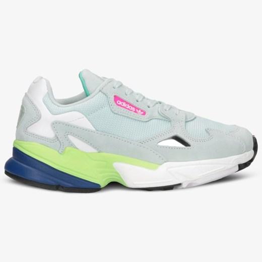 Buty sportowe damskie niebieskie Adidas do biegania bez wzorów na wiosnę płaskie
