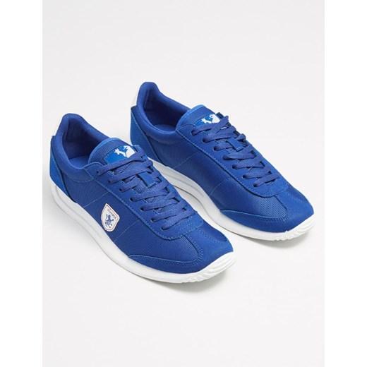 Buty sportowe męskie niebieskie Diverse sznurowane zamszowe