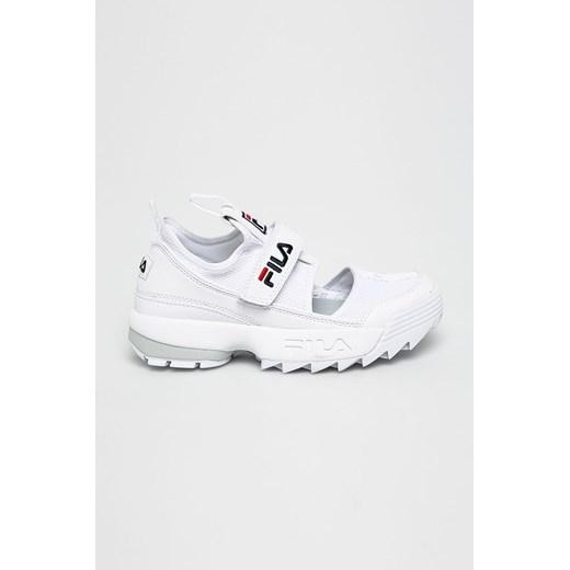 Fila sneakersy damskie białe młodzieżowe bez wzorów skórzane