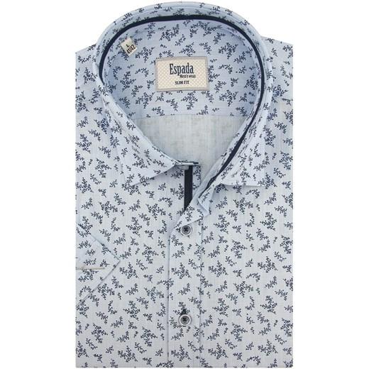 Koszula męska Espada tkaninowa z krótkim rękawem z  z9imo