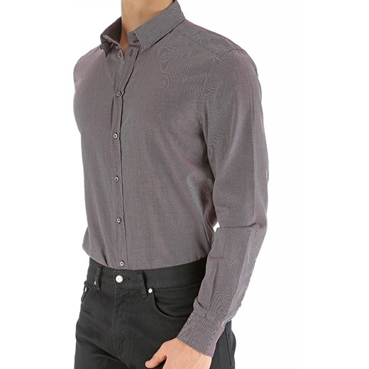 Koszula męska Dolce & Gabbana bawełniana z długimi rękawami  XxJkX