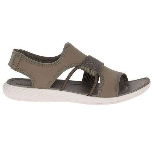 Sandały damskie Merrell bez obcasa brązowe bez zapięcia