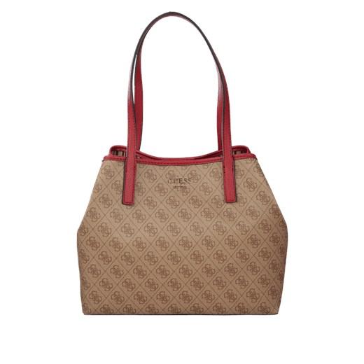 Shopper bag Guess brązowa na ramię