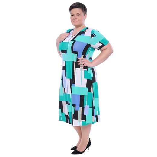 Sukienka na spacer Odzież Damska KD wielokolorowy RRMN