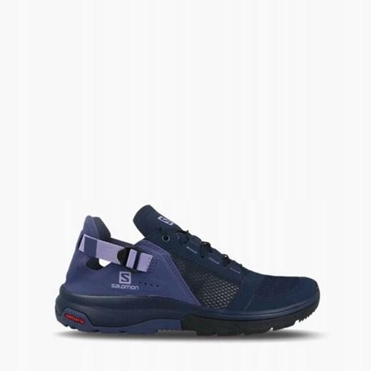Niebieskie buty sportowe damskie Salomon wiązane wiosenne