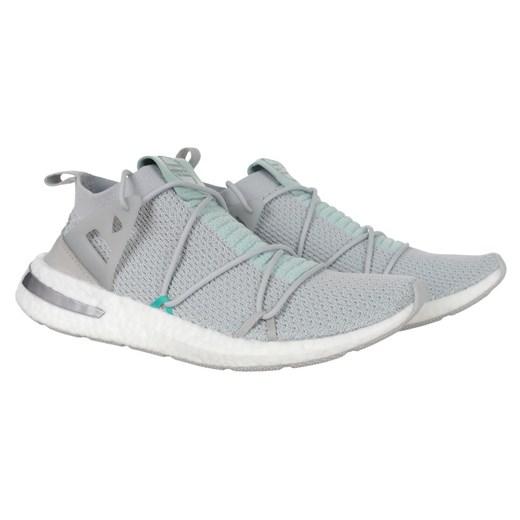 Adidas buty sportowe damskie do biegania szare płaskie w Domodi