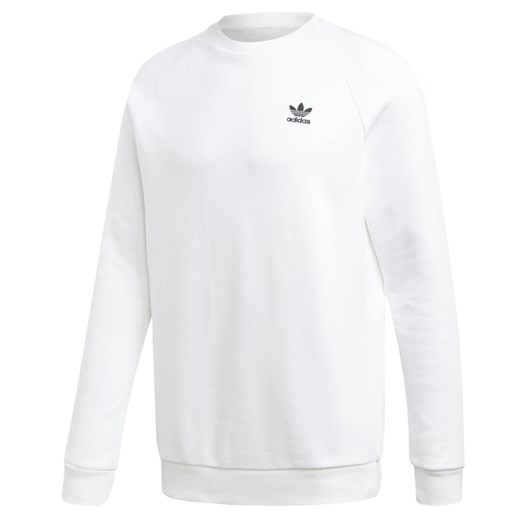Bluza sportowa Adidas biała bez wzorów bawełniana