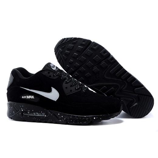 Buty sportowe męskie czarne Nike air max 91 skórzane sznurowane