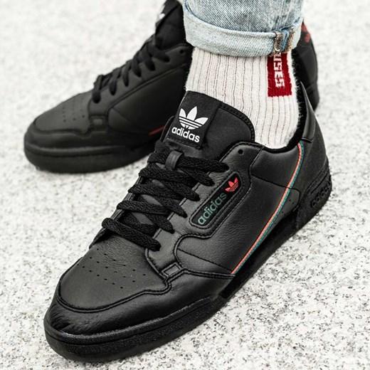 adidas BUTY MĘSKIE CONTINENTAL 80 czarne skórzane