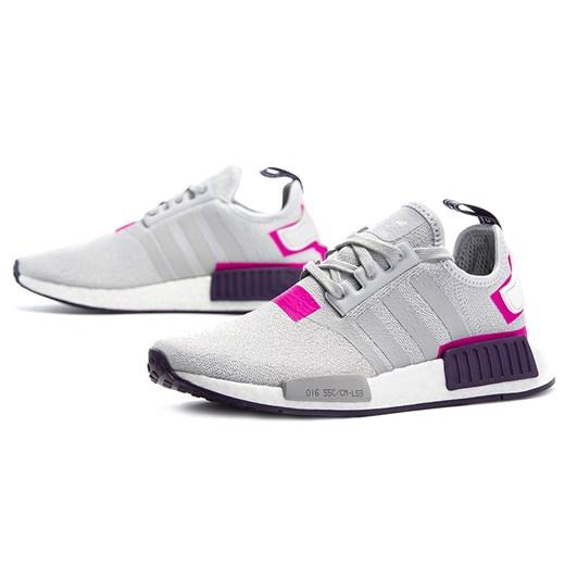 Buty sportowe damskie Adidas nmd płaskie bez wzorów eleganckie