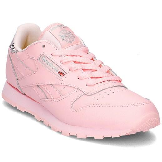 Buty sportowe damskie Reebok młodzieżowe sznurowane na wiosnę skórzane na płaskiej podeszwie