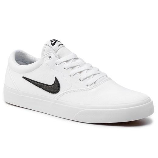 Trampki męskie Nike sb białe sportowe wiosenne sznurowane