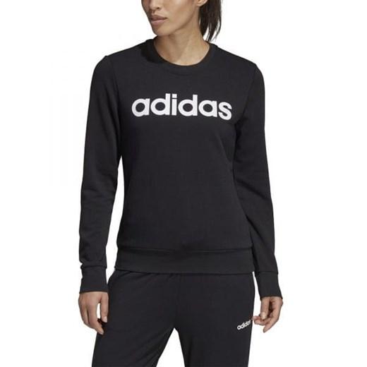 Czarna bluza sportowa Adidas z napisami w Domodi