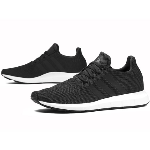 Buty sportowe męskie Adidas czarne sznurowane w Domodi