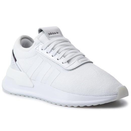 Adidas buty sportowe damskie białe na wiosnę bez wzorów