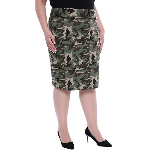 Spódnica w militarne wzory