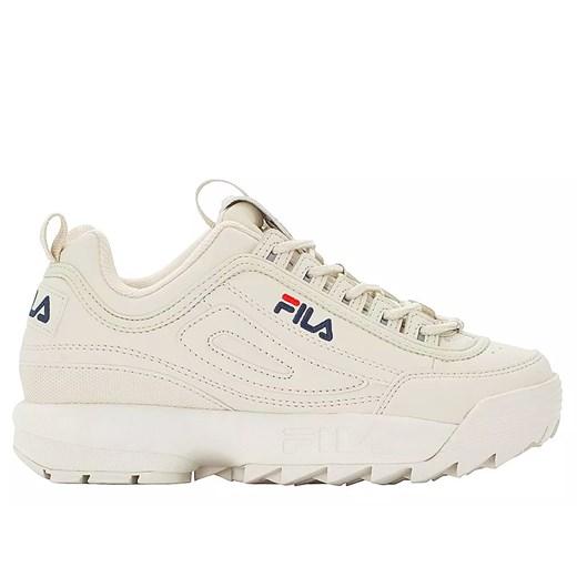 Sneakersy damskie Fila na platformie bez wzorów na wiosnę