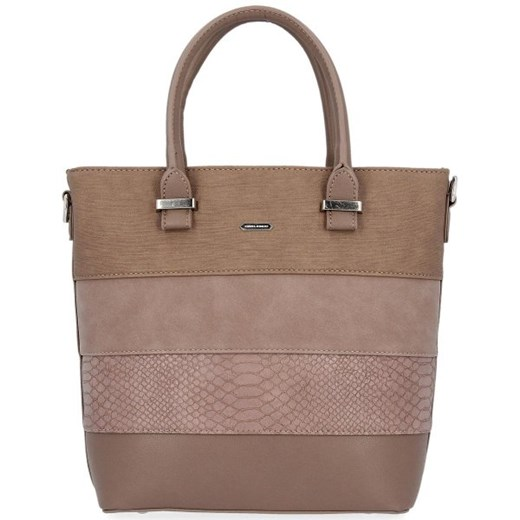 Shopper bag David Jones do ręki bez dodatków matowa
