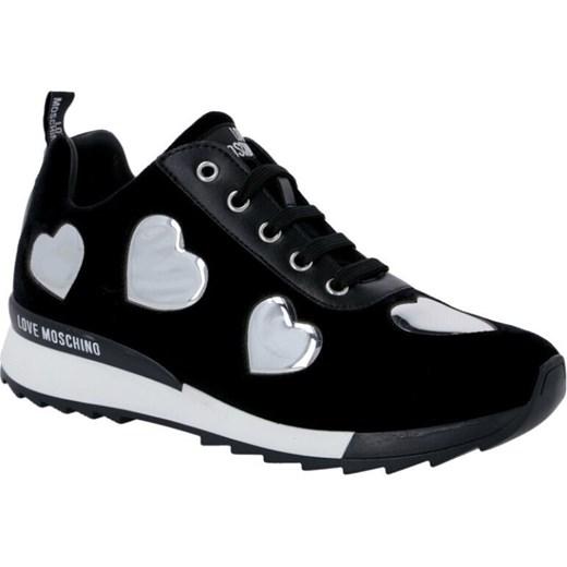 Love Moschino buty sportowe damskie sneakersy czarne na