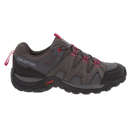 Buty sportowe damskie Salomon sznurowane bez wzorów płaskie