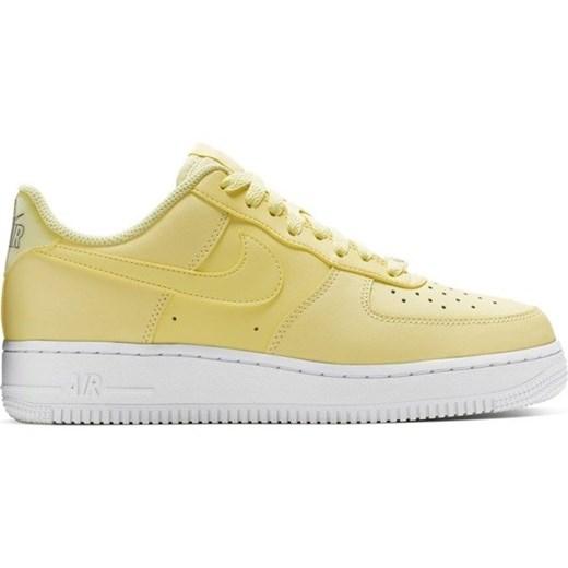 Buty sportowe damskie Nike do biegania w stylu młodzieżowym air force płaskie ze skóry ekologicznej