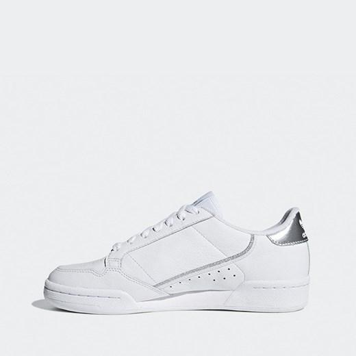 Buty sportowe damskie białe Adidas Originals wiązane gładkie