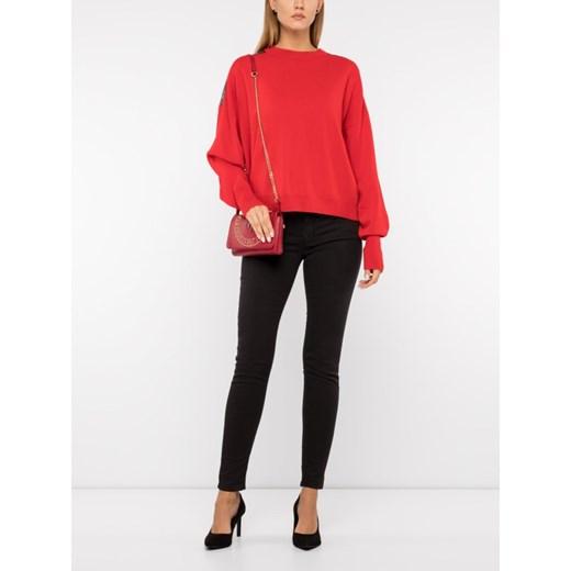 The Kooples sweter damski z okrągłym dekoltem Odzież Damska MX czerwony UGYQ
