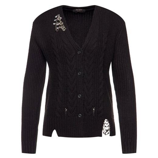 Sweter damski My Twin gładki Odzież Damska TY czarny SJBZ