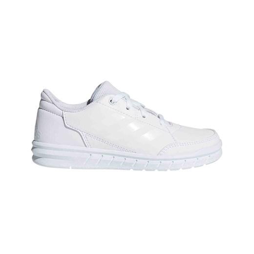 Buty sportowe damskie Adidas młodzieżowe białe skórzane w Domodi