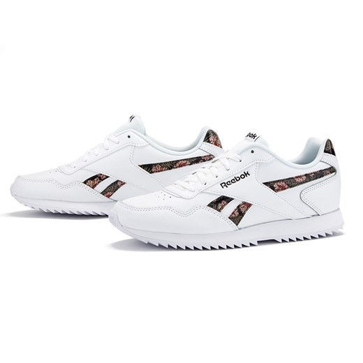 Buty sportowe męskie Reebok Classic royal białe sznurowane w