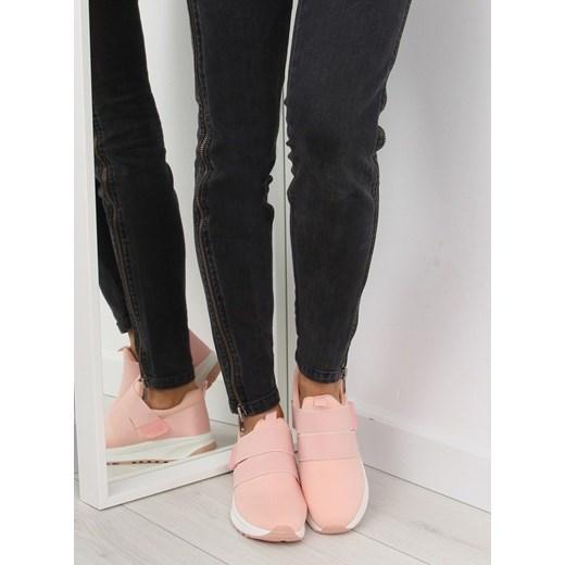 Buty sportowe damskie różowe płaskie bez wzorów aA2Dt