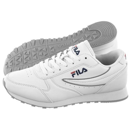 Buty sportowe damskie białe Fila płaskie ze skóry