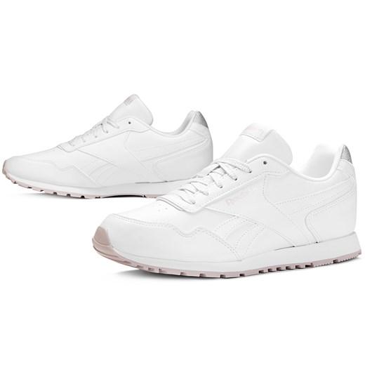 Buty sportowe damskie białe Reebok do fitnessu bez wzorów w