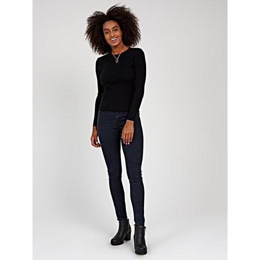 Sweter damski Gate z okrągłym dekoltem Odzież Damska EB czarny EWMT