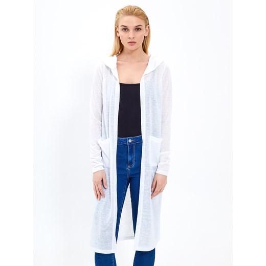 Sweter damski Gate casualowy z kapturem Odzież Damska GD biały YNOT