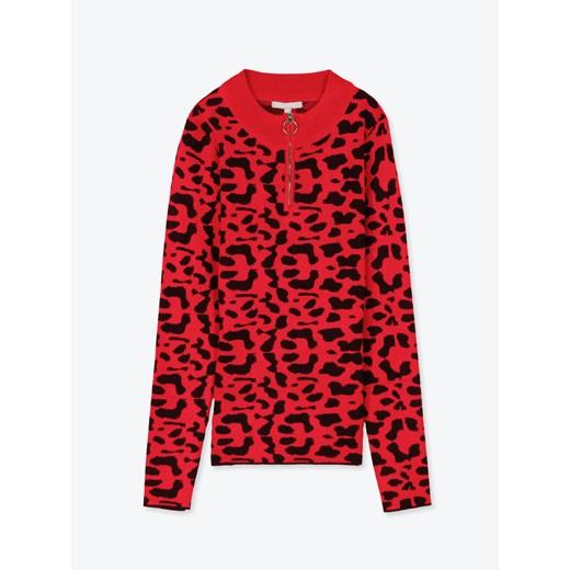 Sweter damski Gate casualowy Odzież Damska VH czerwony QUFO