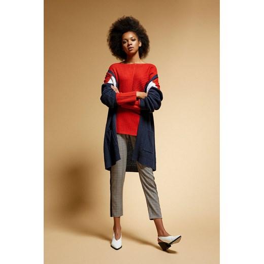 Sweter damski casual z okrągłym dekoltem Odzież Damska IU czerwony XHXQ